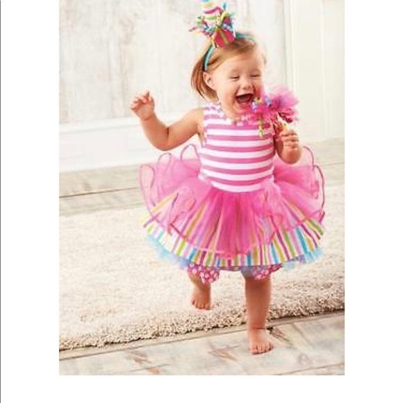 Mud Pie Tiered Birthday Party Tutu Dress Sz 3t M 5add268731a3763caff3fa64